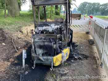 In Harsewinkel brennt ein Radlader - Westfalen-Blatt