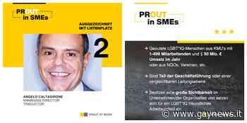 Angelo Caltagirone, fondatore di Edge, al 2° posto nella lista di Prout at Work - GAYNEWS - GayNews