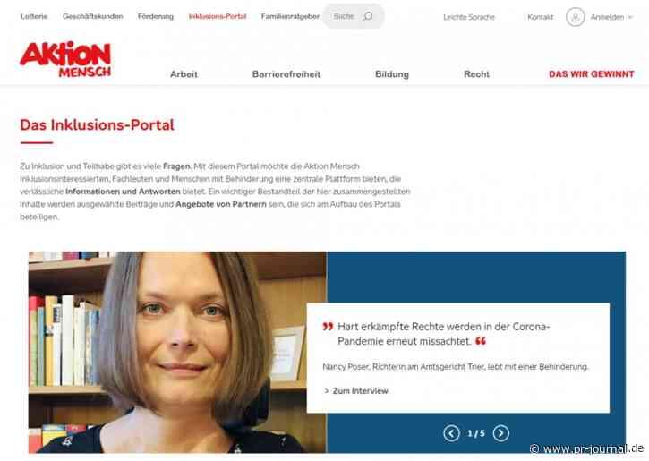 Aktion Mensch launcht mit muehlhausmoers neues Portal zum Thema Inklusion