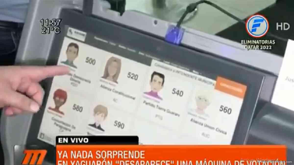 Yaguarón: Desapareció una máquina de votación - ÚltimaHora.com