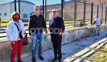 Clubes en Obra: Casalegno entregó un aporte a Almirante Brown - Otro Día