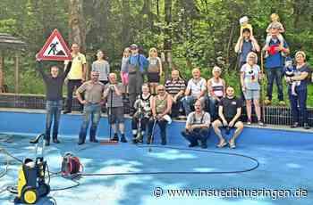Waldbadverein Geschwenda - Waldbad aus dem Winterschlaf geholt - inSüdthüringen