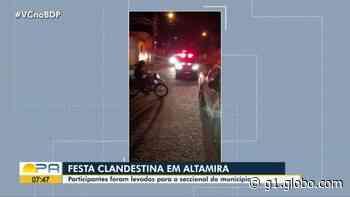 Forças de segurança flagram festa clandestina em Altamira, sudoeste do Pará - G1