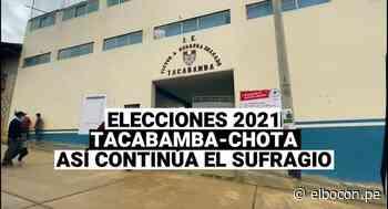Elecciones 2021: 10 mesas de sufragio para 3000 electores en Tacabamba-Chota - El Bocón