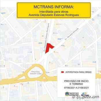 Trecho da Avenida Deputado Esteves Rodrigues, em Montes Claros, é interditado para obras - G1