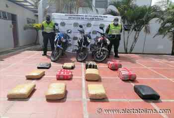 Incautaron millonario alijo de marihuana y tres motocicletas tras operativos en Valle de San Juan - Alerta Tolima