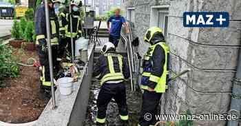 Schweres Gewitter über Rathenow führt zu Überflutungen - Märkische Allgemeine Zeitung