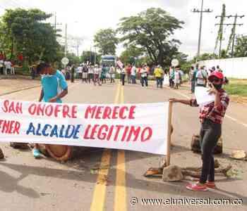 Protesta en San Onofre para exigir elecciones atípicas - El Universal - Colombia