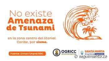 En Santa Marta no existe amenaza de Tsunami - Seguimiento.co