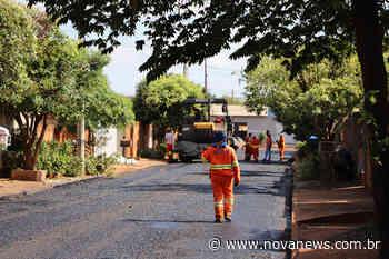 Frente de recapeamento chega a mais um bairro de Nova Andradina: o - Nova News