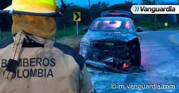 Un vehículo resultó calcinado en Oiba, Santander - Vanguardia