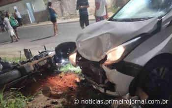 Motoqueiro tem perna amputada no acidente em Teixeira de Freitas - - PrimeiroJornal