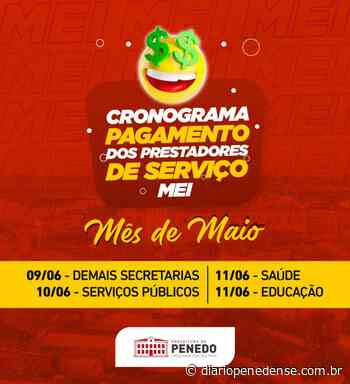 Prefeitura de Penedo inicia pagamento dos MEIs a partir de quarta-feira, 09 - Geraldo Jose