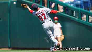 Netting collapses, Phils beat Nats; Voth HBP, broken nose - Rock Hill Herald