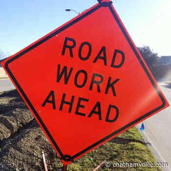 Road work on Wellington Street - Chatham Voice