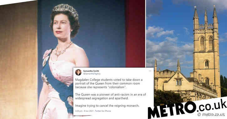 Oxford students vote to remove portrait of Queen as she is 'colonial' symbol