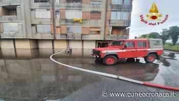 Nubifragio a Racconigi: decine di squadre dei pompieri al lavoro per prosciugamenti - Cuneocronaca.it