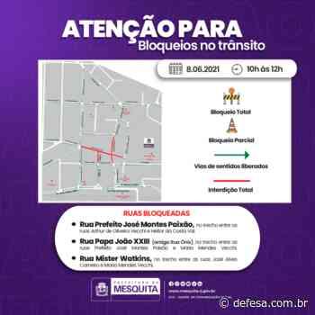 Trânsito de Mesquita com interdições nesta terça-feira - Defesa - Agência de Notícias