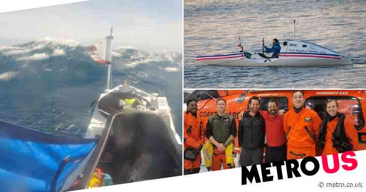 Kayaker trying to set record on 2,400-mile trip rescued after just 70 miles