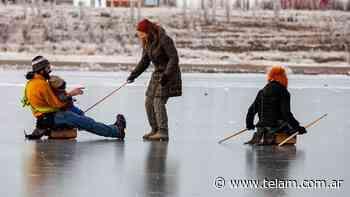 Por la tragedia en Río Turbio, insisten en prohibir patinar en lagunas congeladas - Télam