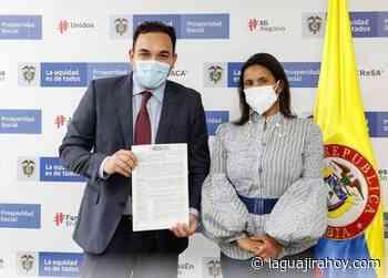 Alcalde firma convenio con Prosperidad Social, para pavimentar dos barrios en Barrancas - La Guajira Hoy.com