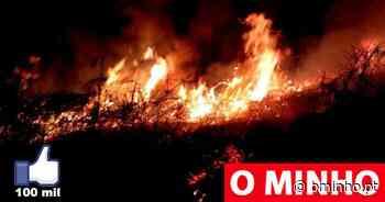 Incêndio noturno na Senhora da Guia, em Viana - O MINHO