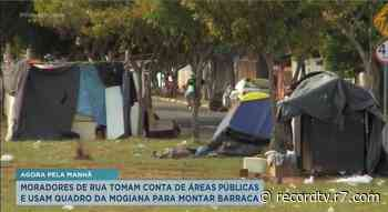 Moradores de rua tomam conta de áreas públicas em Franca - Record TV