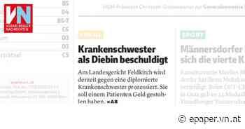 Krankenschwester als Diebin beschuldigt - Vorarlberger Nachrichten | VN.AT