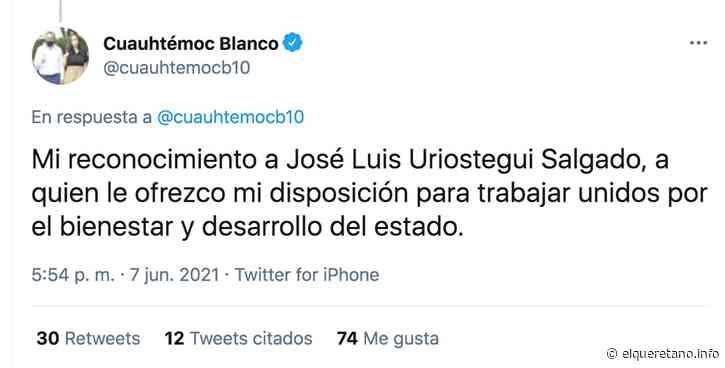 Reconoce Cuauhtémoc Blanco triunfo del panista Urióstegui en Cuernavaca - El Queretano