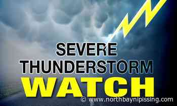 Heat warning, thunderstorm watch for North Bay, Powassan, West Nipissing - NorthBayNipissing.com