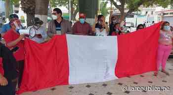 Chiclayo: colectivos civiles manifestaron su respaldo a Pedro Castillo - LaRepública.pe