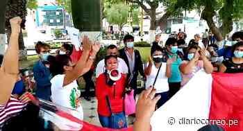 Plantón y posterior marcha realizan simpatizantes de Perú Libre en Chiclayo (VIDEO) - Diario Correo