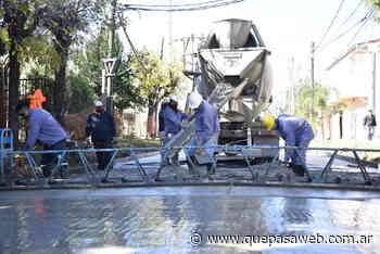 Obras hidráulicas y asfalto para el barrio El Primaveral de Grand Bourg - Que Pasa Web