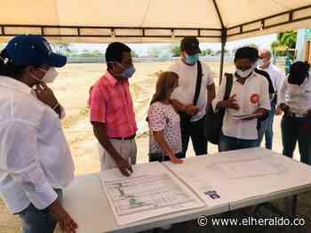 Gobernadora Noguera supervisa obras de cancha de Cuatro Bocas, en Tubará - EL HERALDO