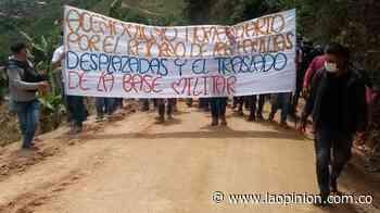 Tras compromisos asumidos por el Ejército, comunidad levantó campamento en Hacarí | Noticias de Norte de Santander, Colombia y el mundo - La Opinión Cúcuta