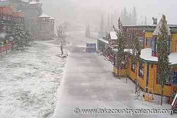 SilverStar dusted with snow – Lake Country Calendar - Lake Country Calendar