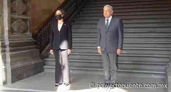 López Obrador recibe a Kamala Harris en Palacio Nacional - Proyecto Puente