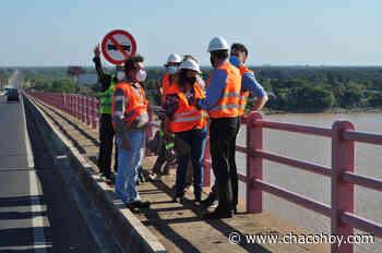 Vialidad Nacional coordina trabajos de mantenimiento en el puente Chaco-Corrientes - ChacoHoy