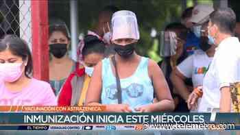 Este miércoles arranca la vacunación con AstraZeneca en San Miguelito - Telemetro