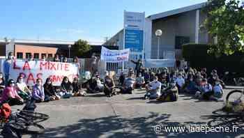 Protestation devant le collège De Vinci à Tournefeuille - ladepeche.fr