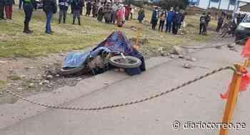 Azángaro: Joven motociclista muere tras despiste de su unidad - Diario Correo