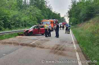 Fahrzeug überschlägt sich auf B 291 zwischen Walldorf und Oftersheim - Mannheimer Morgen