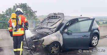 A6 bei Kirchardt: Auto ging in Flammen auf - Rhein-Neckar Zeitung
