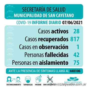 San Cayetano registró dos nuevos casos de Covid-19 y siete personas recibieron el alta - La Voz del Pueblo