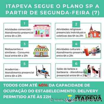 Itapeva retoma o Plano São Paulo a partir desta segunda-feira, dia 07 de junho - Jornal Ita News