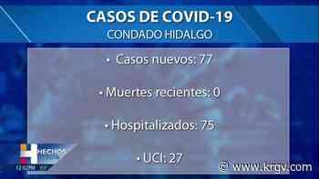 El condado Hidalgo reporta 0 muertes relacionadas con coronavirus, 77 casos positivos - KRGV