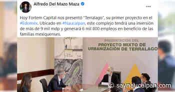 Anuncian inversión inmobiliaria en Naucalpan, denominado Terralago - Soy Naucalpan