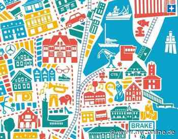 Kunstvoller Stadtplan: Kreisstadt Brake als Kunstwerk - Nordwest-Zeitung