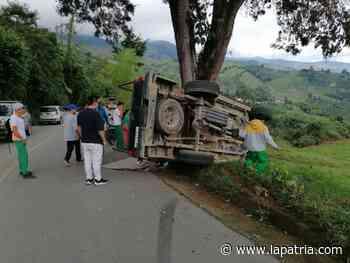 Tres menores resultaron heridos en accidente de tránsito en la vía Aguadas-Pácora - La Patria.com