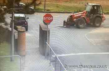 Forklift driver smashes Mini Cooper in Greenways, Ovingdean